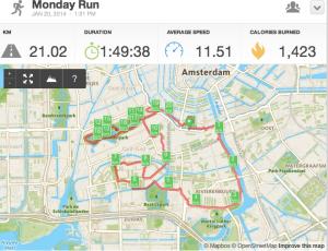 eerste halve marathon