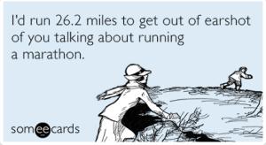 Marathon obsessed….