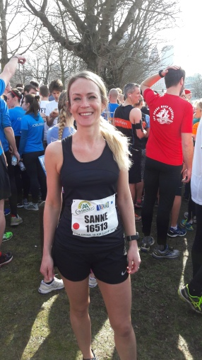 Marjolein alias Sanne vlak voor de start
