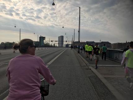fietsen naar de start